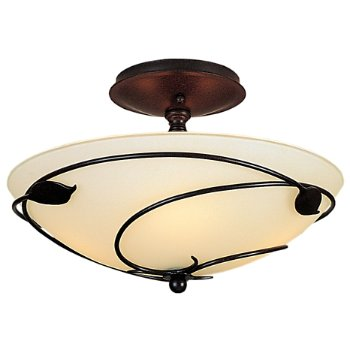 Shown in Opal glass color with Mahogany finish, Small size