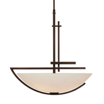 Shown in Bronze finish, Opal glass color