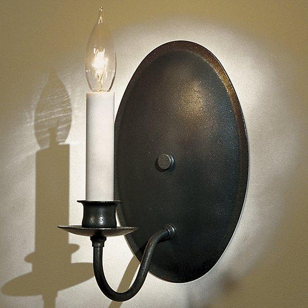 Single Light On Oval Back Wall Sconce