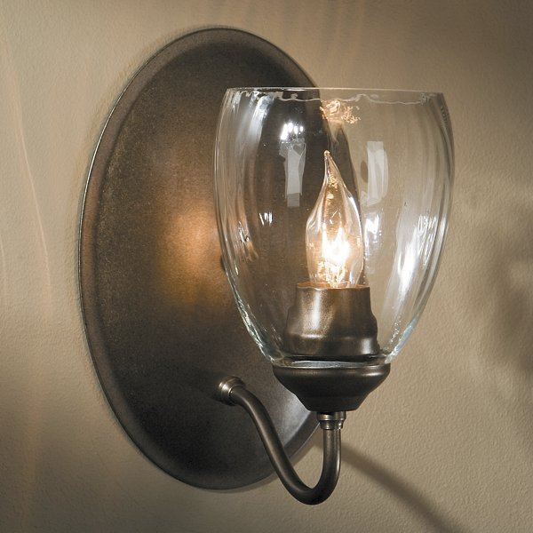 Simple Lines Single Wall Sconce with Water Glass