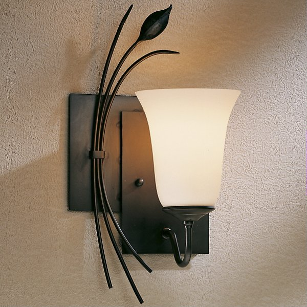 Two Panels With Forged Leaf Wall Sconce