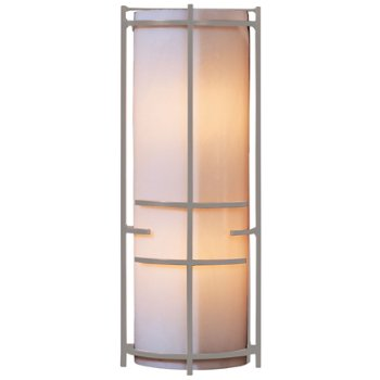 Shown in Burnished Steel finish, White Art glass
