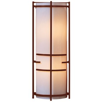 Shown in Mahogany finish, White Art glass