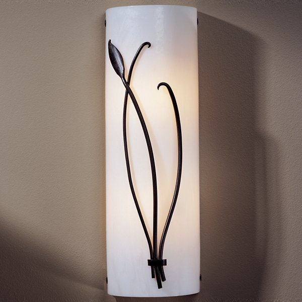 Forged Leaf and Stem Wall Sconce
