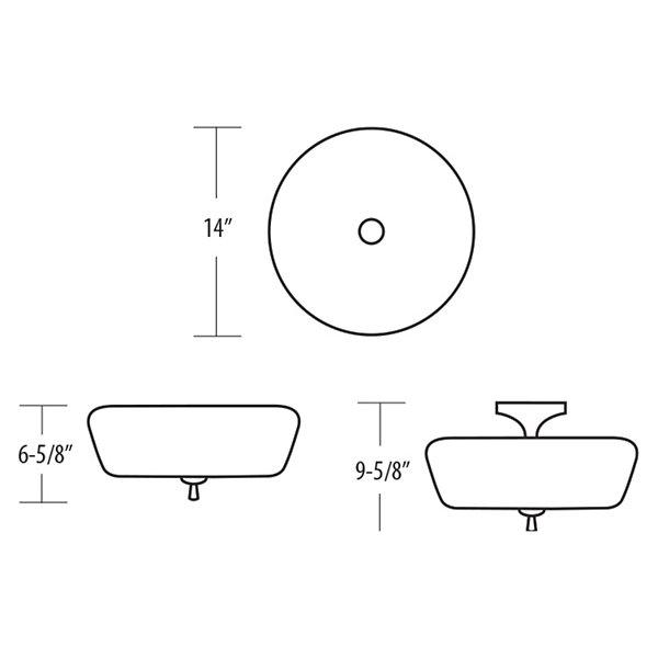 Ferros Semi-Flushmount
