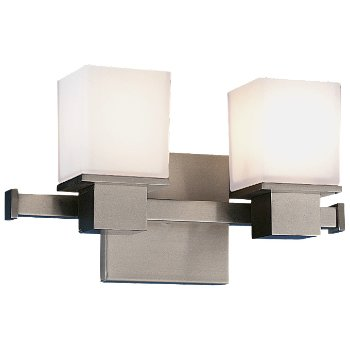 Shown in Satin Nickel finish, 2 Light