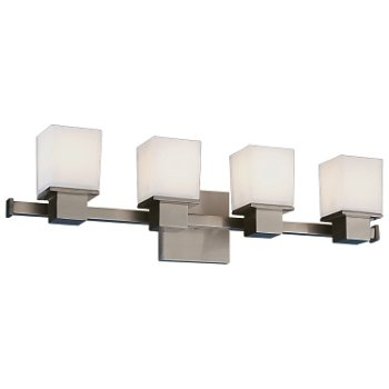 Shown in Satin Nickel finish, 4 Light