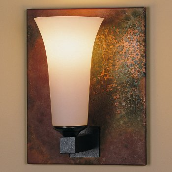 Shown in Opal glass, Natural Iron finish