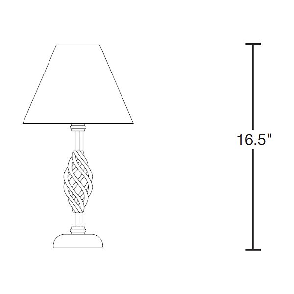 Twist Basket Table Lamp-Small