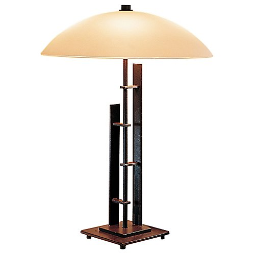 Metra double table lamp with glass by hubbardton forge at lumens com