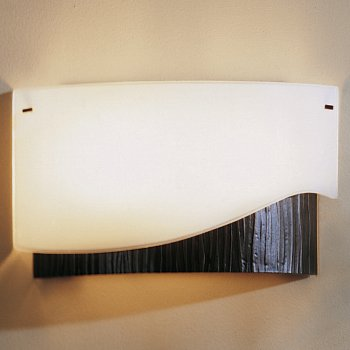Forged Wave Wall Sconce With Glass