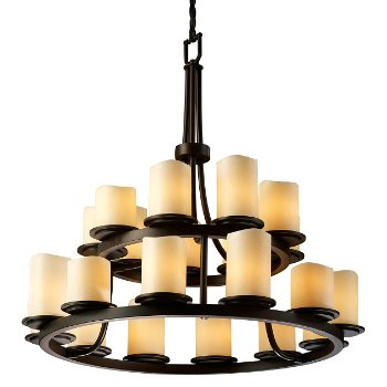 Shown in Dark Bronze finish with Melted shade in Cream
