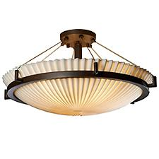Porcelina Semi-Flush Bowl Suspension Light