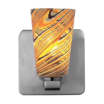 Carnevale Taupe Feather Quadro Wall Sconce