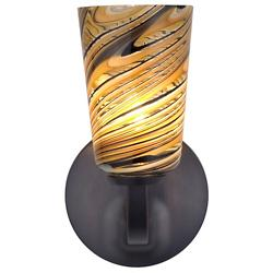 Carnevale Taupe Feather Rondo Wall Sconce