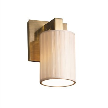 Shown in Round Flared shape, Sawtooth pattern, Brushed Nickel finish
