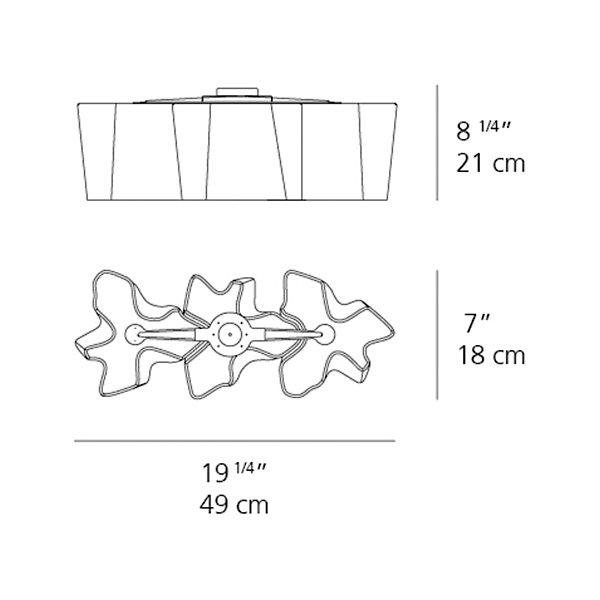 Logico Mini Triple Linear Semi-Flushmount
