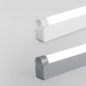 Shown in Aluminum, White finish