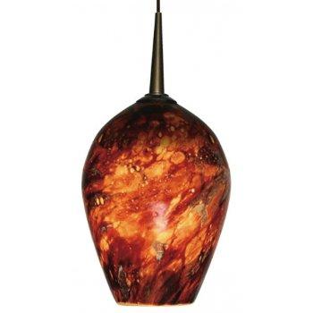 Shown in Autumn Leaf glass, Bronze finish