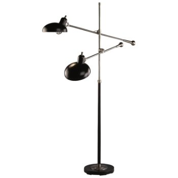 Bruno Adjustable Double Arm Pharmacy Floor Lamp By Robert Abbey At