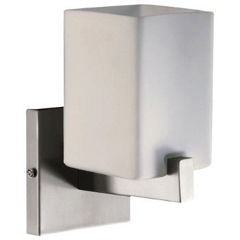 Shown in Satin Nickel with Satin Opal shade