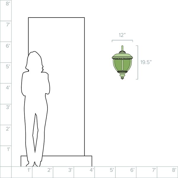 Knob Hill Outdoor Hanging Wall Sconce