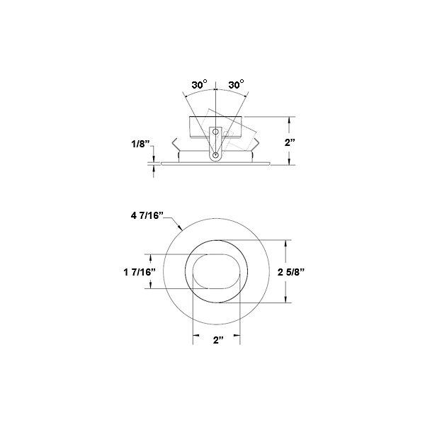 T3850 Slot Aperture, Adjustable Trim