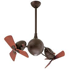 Acqua Ceiling Fan - Body Finish: Textured Bronze - Blade Color: Mahogany