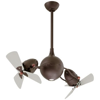 Shown in Textured Bronze finish with Metal Blades