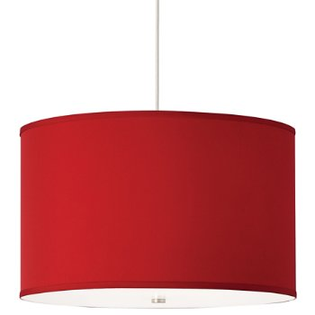 Shown with Red shade and Satin Nickel finish