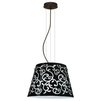 Shown in Black Damask shade, Bronze finish