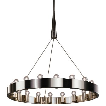 Shown in Brushed Nickel finish, 18 light