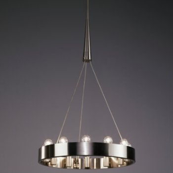 Shown in Brushed Nickel finish, 12 light