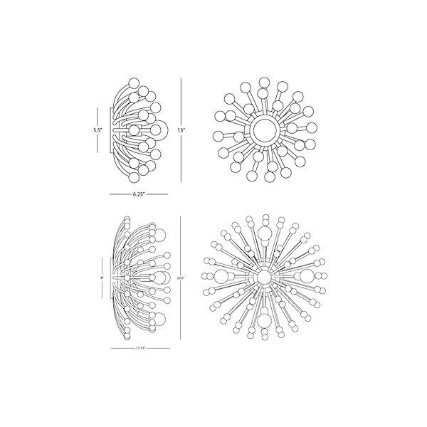 Anemone Flushmount/Wall Light
