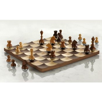 Man ray chess board by ic design group at - Wobble chess set ...