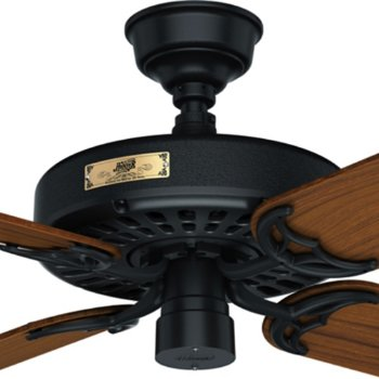 Shown in Black with Teak blades, Detail view