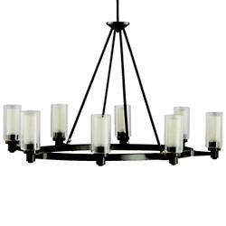 Circolo 8-Light Oval Chandelier