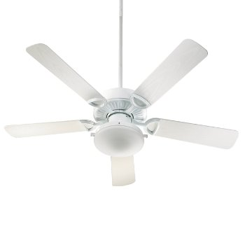 Shown in White Fan Body with Satin Opal and White Blade finish