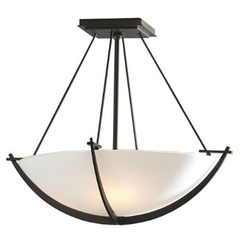 Shown in Dark Smoke finish with Opal Glass color, Small size