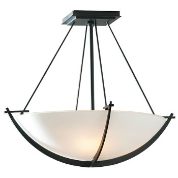 Shown in Black finish with Opal Glass color, Large size