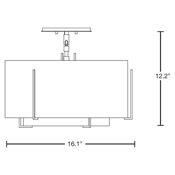 Exos Double Shade Semi-Flushmount Small
