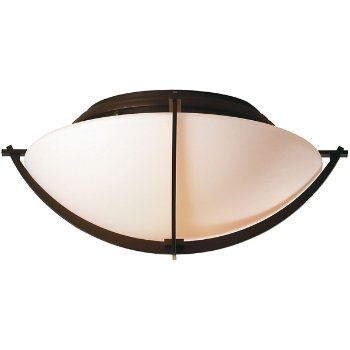 Shown in Mahogany finish, Opal glass color