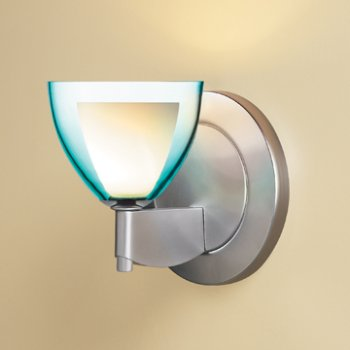 Shown in Turquoise glass, Matte Chrome finish