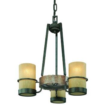 Bamboo 3-Light Chandelier