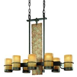 Bamboo 8-Light Suspension
