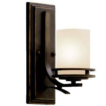 Shown in Light Umber Etched glass, Olde Bronze finish