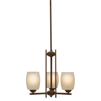 Shown in Olde Bronze with Umber Etched Glass finish with 3 Lights