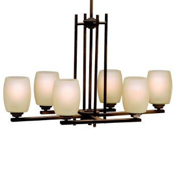 Shown in Olde Bronze with Umber Etched Glass finish with 6 Lights