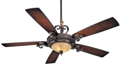 ceiling fan with Sterling Walnut Shaded Blades