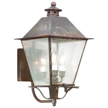 Shown in Clear Seeded glass, Natural Rust finish, Large size